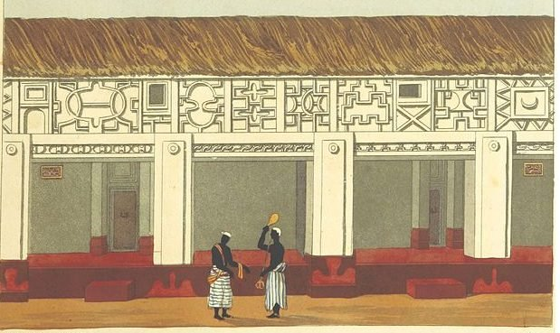 Ashanti Palace as depicted in 1819