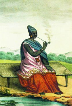 Lingeer Ndate Yalla Mbodj from the kingdom of Waalo in Senegal. This woman was one of the greatest fighters to the colonial invasion.
