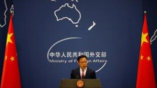 """Một """"chiến lang"""" tiêu biểu: Phát ngôn viên bộ Ngoại Giao Trung Quốc Triệu Lập Kiên. Ảnh minh họa chụp ngày 08/04/2020 tại Bắc Kinh"""
