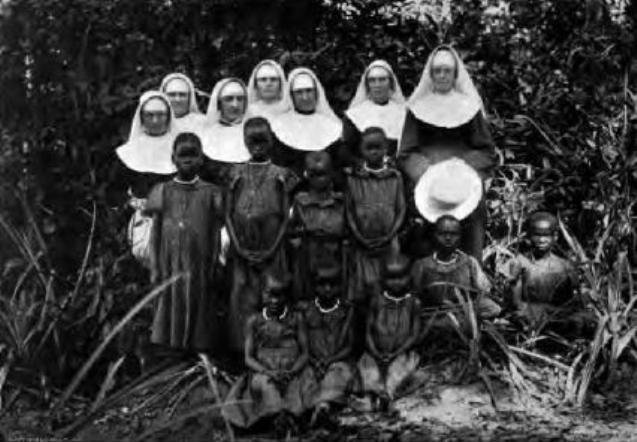 Nuns in Congo. The missionaries