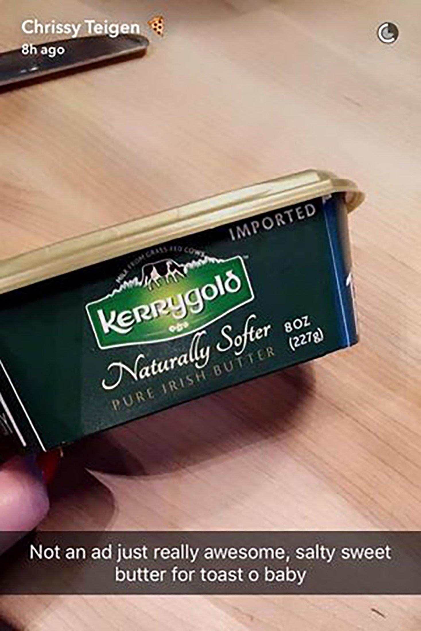 Chrissy Teigen is a fan of Kerrygold butter.