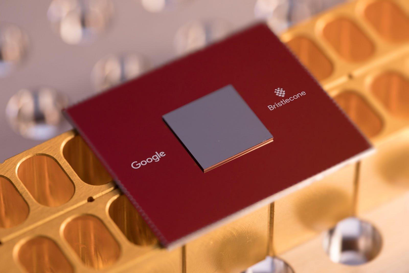 Bristlecone quantum processor. Photo by Erik Lucero,Google.