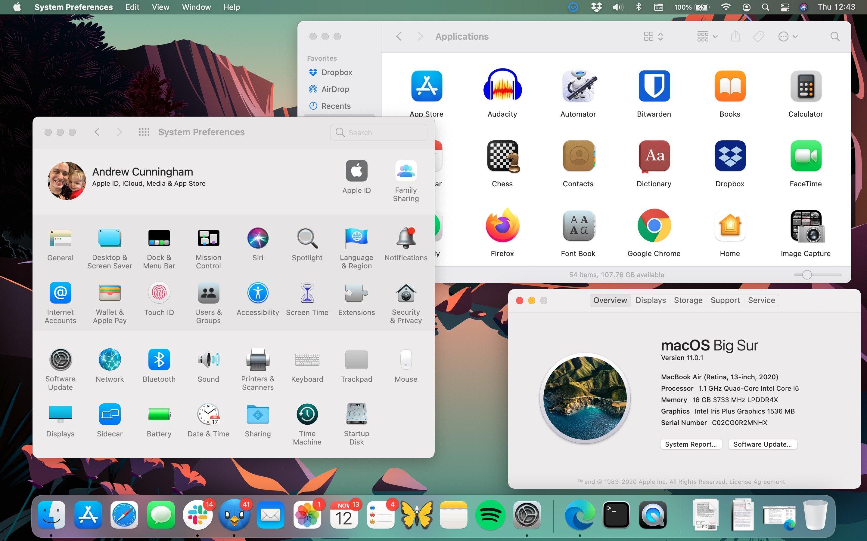 Big Sur brings a brand new look to macOS.