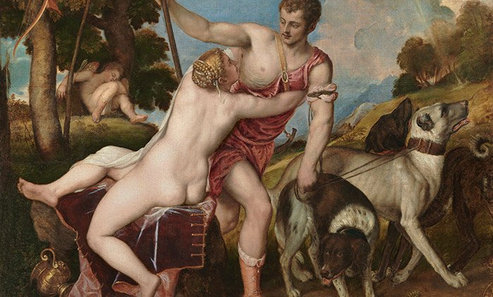 Fig 4. Venus and Adonis, Titian, 1554. Museo del Prado, Madrid. Courtesy Wikimedia