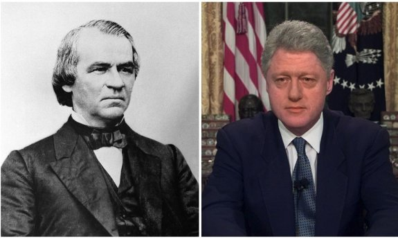 Presidents Andrew Johnson and Bill Clinton were impeached by the House.