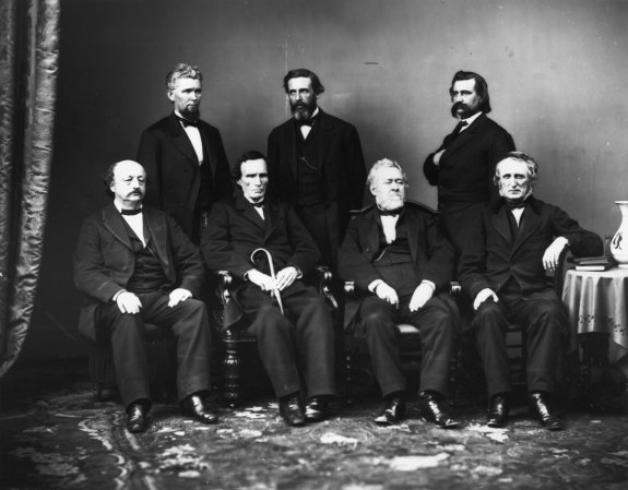 The House impeachment committee that tried President Andrew Johnson after he removed Edwin Stanton from office.
