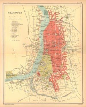 A map of Kolkata from 1909 . Photograph: Antiqua Print Gallery/Alamy