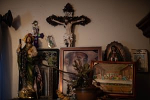 A picture of Pedro sits in a shrine in the family home in Elyria, Ohio. 'He took care of his family and his neighbors. And we put an end to that.' Photograph: Michael McElroy/The Marshall Project