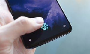 Fast, accurate and well placed, in-display fingerprint scanners don't get any better than this at the moment. Photograph: Samuel Gibbs/The Guardian