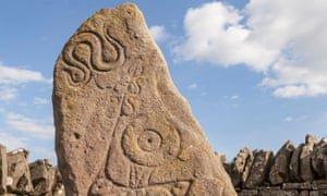 Pictish symbol stone at Aberlemno. Photograph: Alamy