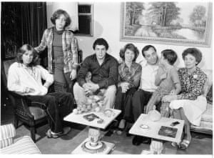 The Cuomo family: from left to right, Maria, 15, Madeline, 12, Andrew, 19, Margaret, 22, father Mario, Christopher, seven, and mother Matilda at their home in 1977. Photograph: George Argeroplos/Newsday LLC/Newsday RM via Getty Images