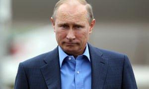 Vladimir Putin in Belfast in 2013. Photograph: WPA/Getty Images