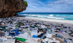 Plastic waste washed up on Christmas Island, Australia. Photograph: Daniela Dirscherl/Getty Images/WaterFrame RM
