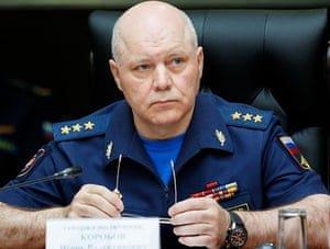 GRU commander Igor Korobov in 2017. Photograph: HO/AFP/Getty