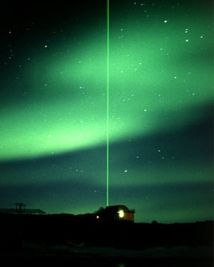 A Lidar instrument in operation at Davis station in Antarctica. Photograph: HO/REUTERS
