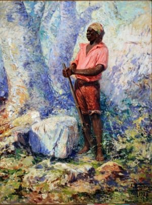 A painting of Zumbi dos Palmares