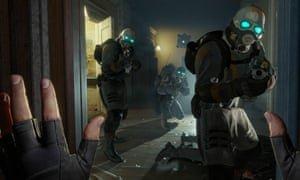 Gameplay from Half-Life: Alyx. Photograph: Half Life Alyx