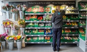 UK supermarket with Fairtrade bananas. Photograph: Sean Spencer/Alamy