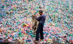 A recycling centre outside Beijing, China. Photograph: Fred Dufour/AFP/Getty Images