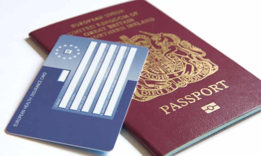 Ehic cards remain valid in the EU until they expire. Photograph: Alamy