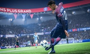 Gameplay from Fifa 19. Loot boxes were the source of half of game creator EA's 2017 revenue from add-ons. Photograph: EA Sports