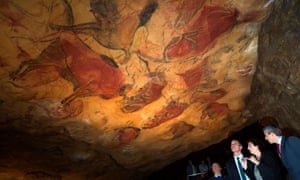 The Cave of Altamira in Spain. Photograph: Pedro Puente Hoyos/EPA