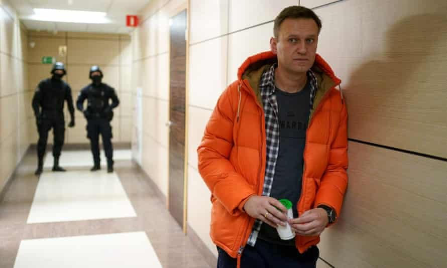 Russian opposition leader Alexei Navalny must choose between exile and jail if he returns to the country. Photograph: Dimitar Dilkoff/AFP