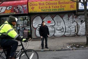 Businesses are shut in the Bronx. Photograph: Yana Paskova/The Washington Post via Getty Images