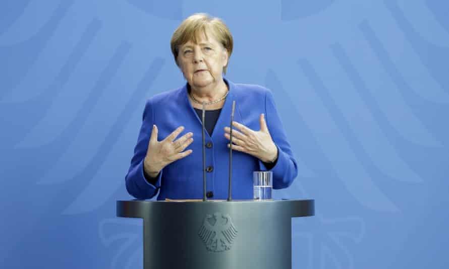 Angela Merkel's departure will dominate German politics this year. Photograph: Thomas Imo/Photothek via Getty Images