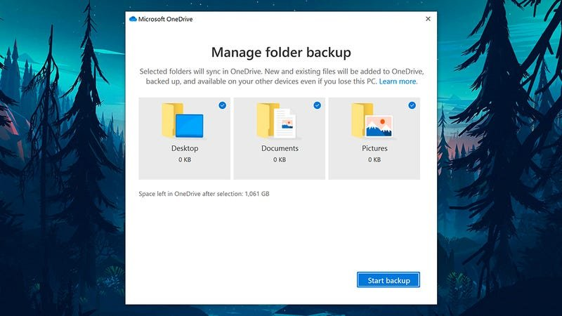 OneDrive might be holding files, not from your OneDrive folder.