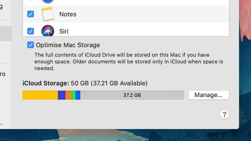 Check your iCloud storage in macOS or iOS.