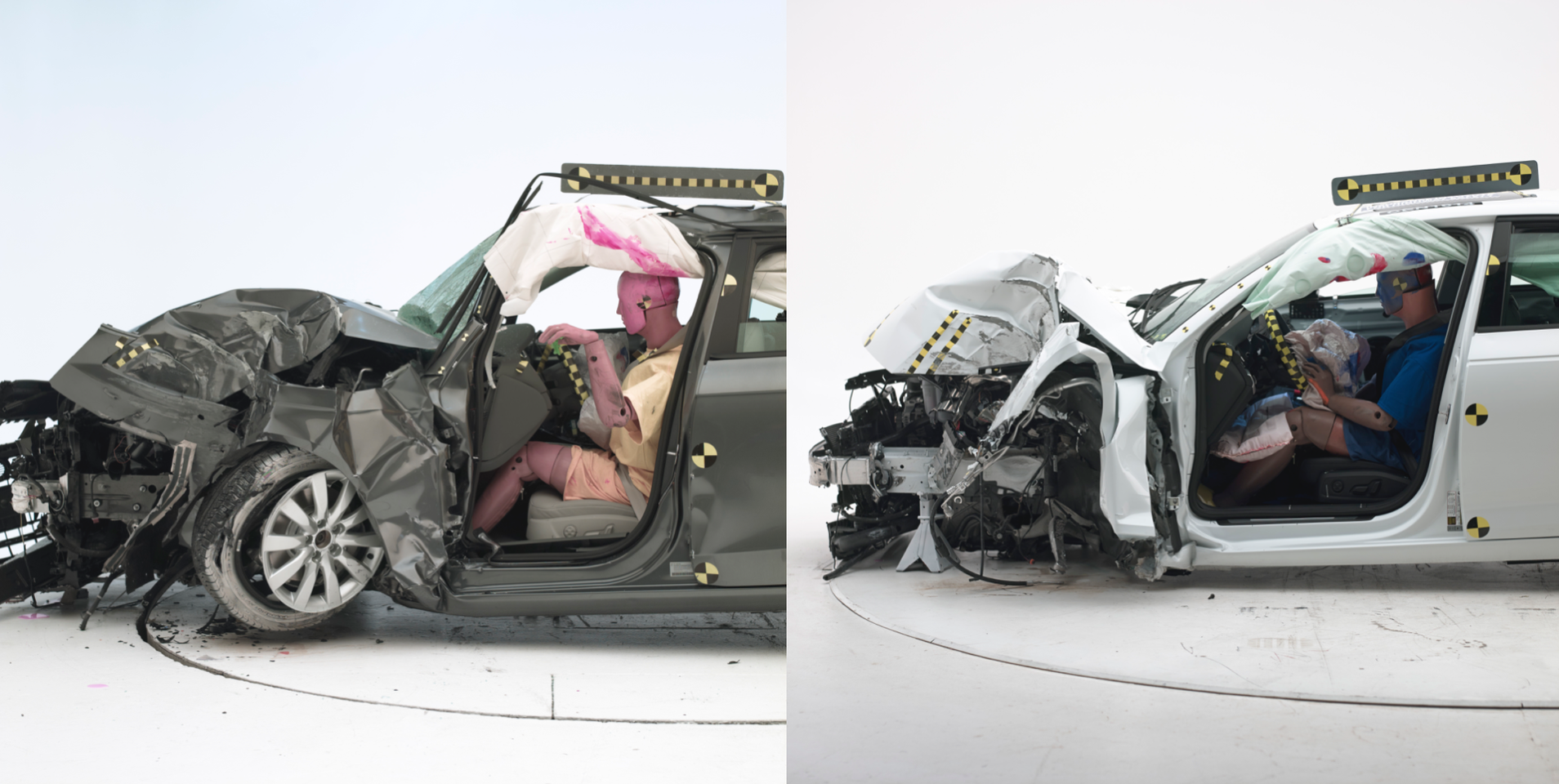 The 2012 Audi A4 small front overlap IIHS crash test