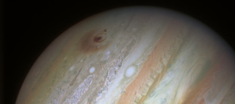 Jupiter's impact scars following collisions with fragments of comet Shoemaker-Levy 9 in 1994.