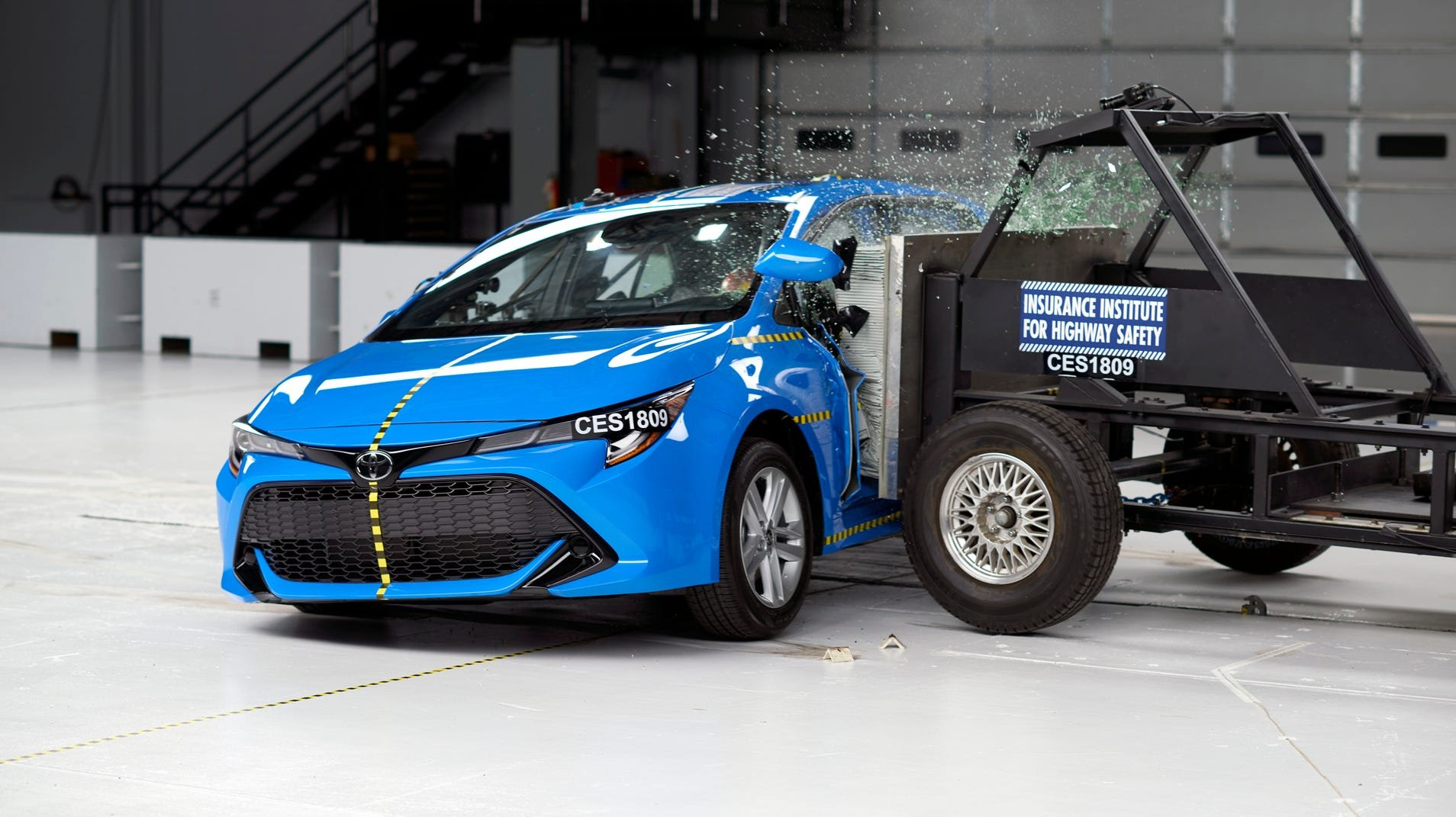 The redesigned 2019 Toyota Corolla hatch, which is a Top Safety Pick with certain headlights.