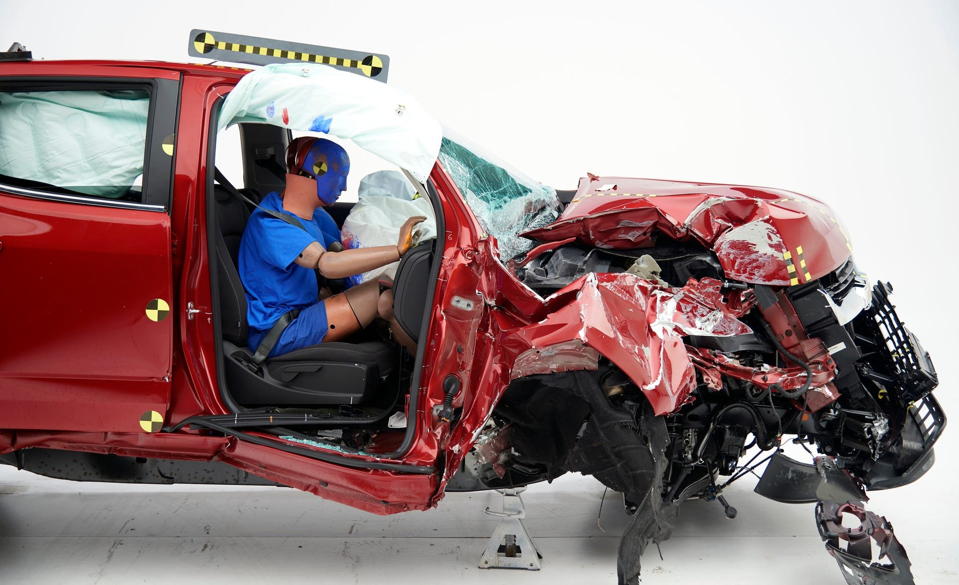 """The 2019 Chevrolet Colorado Crew Cab, which was rated """"Marginal"""" for passenger-side small overlap frontal protection."""