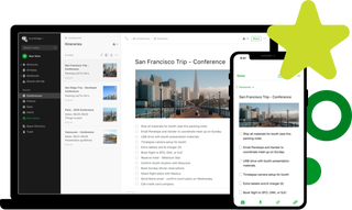 Screenshot:  Evernote