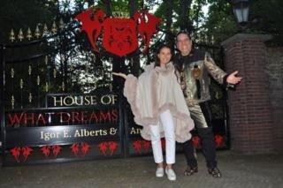 Image caption                                      Igor Alberts and Andreea Cimbala outside their house