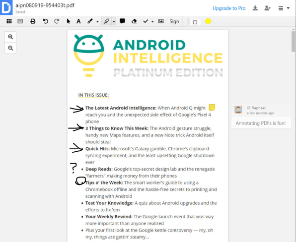 DocHub lets you annotate, highlight, and mark up PDFs from Drive.
