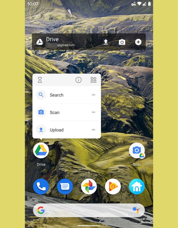 The Google Drive Android app offers several options for on-demand scanning.