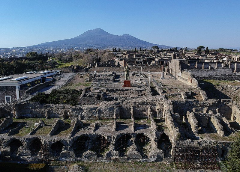 The Roman city of Pompeii, in what is now Italy, was buried by a volcanic eruption in ad 79.Credit: Salvatore Laporta/Kontrolab/LightRocket via Getty