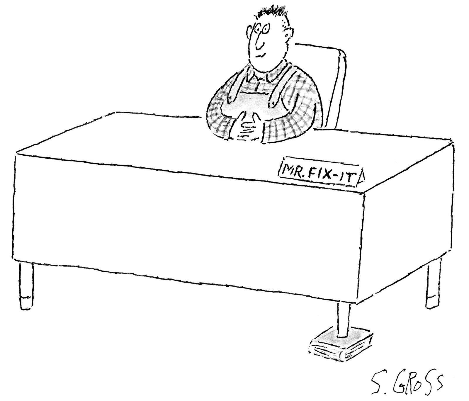 Cartoon by Sam Gross