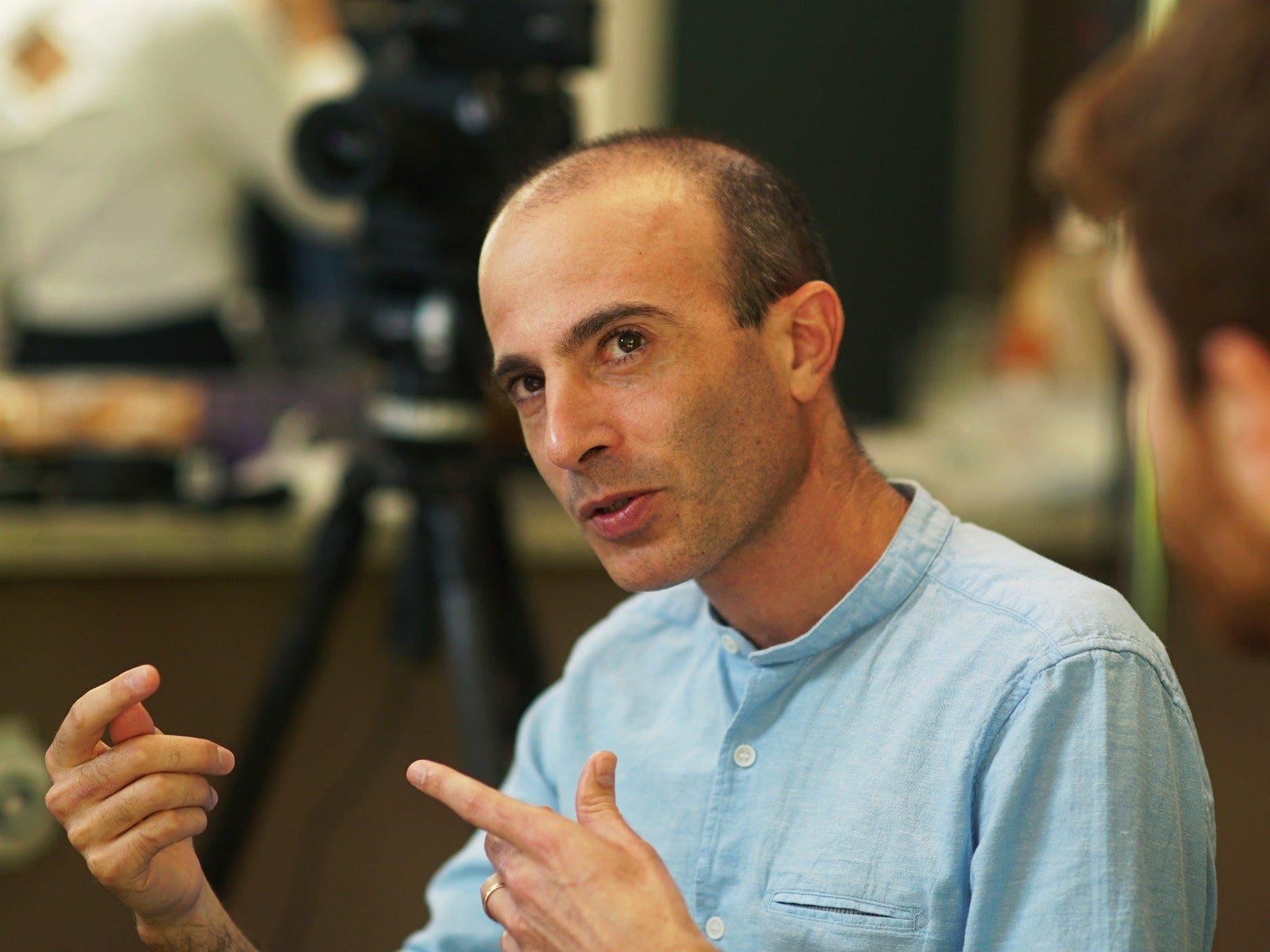 """To put it briefly, my amygdala may be working for Putin,"" says Yuval Noah Harari."