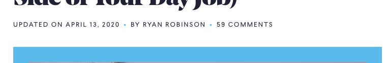 Ryan Robinson's blog. Ryrob.com