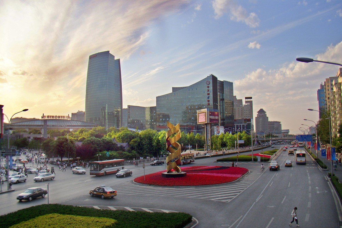 "Zhongguancun, ""China's Silicon Valley,"" Beijing, China, 2009. Silicon Valley as a state of mind has inspired dynamic new hubs for change around the world, from Start-up Chile to Bengaluru, India, to Beijing's Zhongguancun, often called ""China's Silicon Valley."" It is home to internet giants Baidu and Sina, 9,000 startups and more than half of China's unicorn private companies valued at more than $1 billion dollars. Credit: By Charlie Fong, CC BY-SA 4.0,via Wikimedia Commons."
