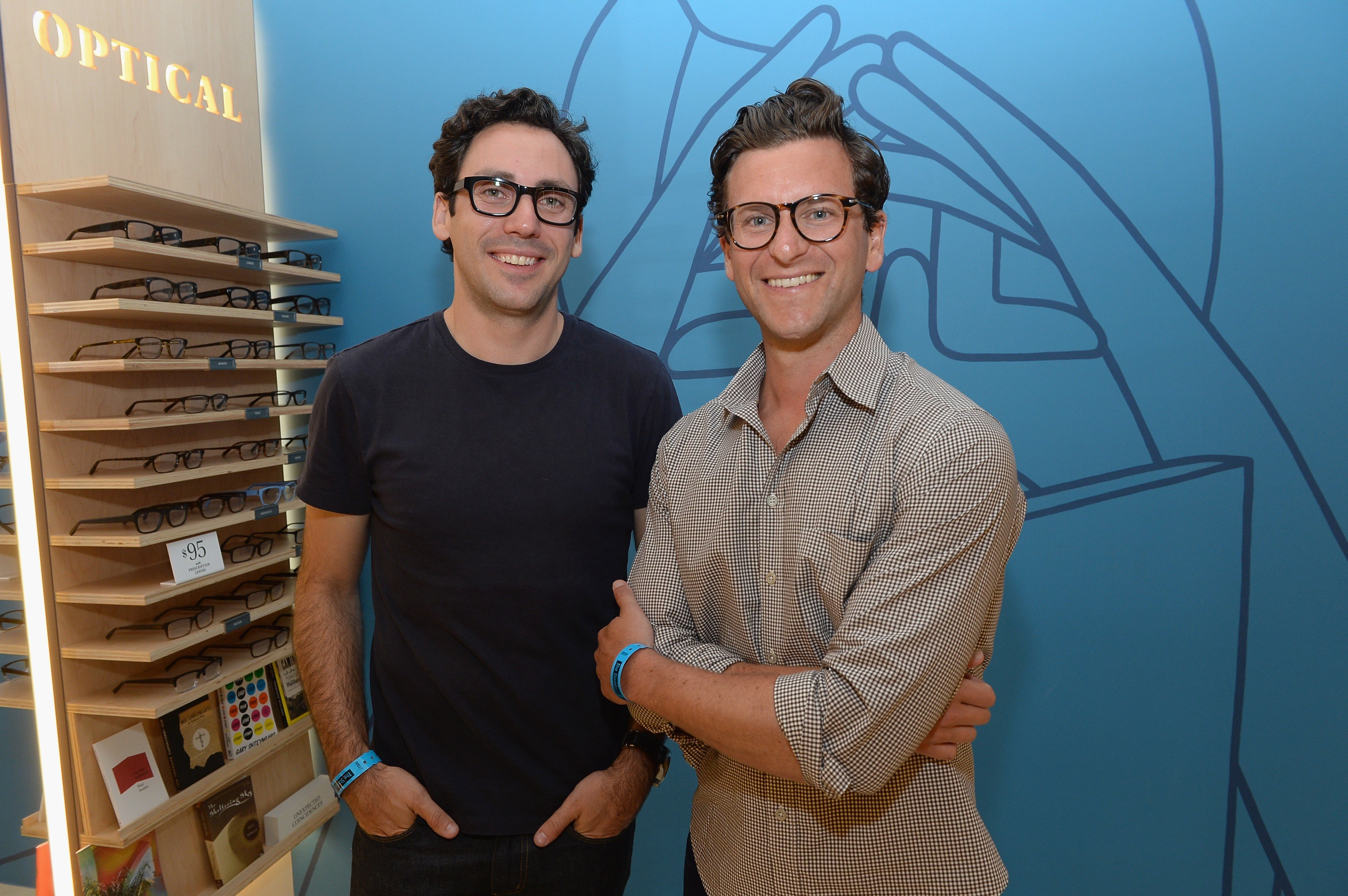 Photo: Warby Parker co-founders and co-CEOs Neil Blumenthal and Dave Gilboa. Photo: Michael Buckner/Getty Images
