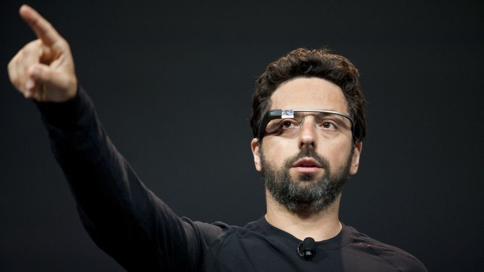 Google co-founder Sergey Brin demonstrates Project Glass. Google
