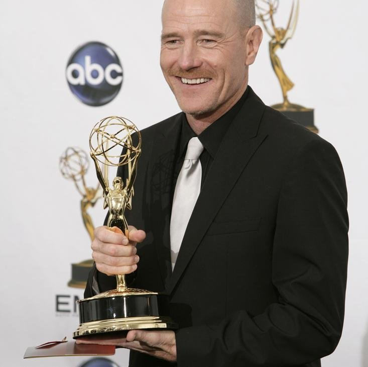 The Lucky Break: Bryan Cranston accepting an Emmy for his work on Breaking Bad.