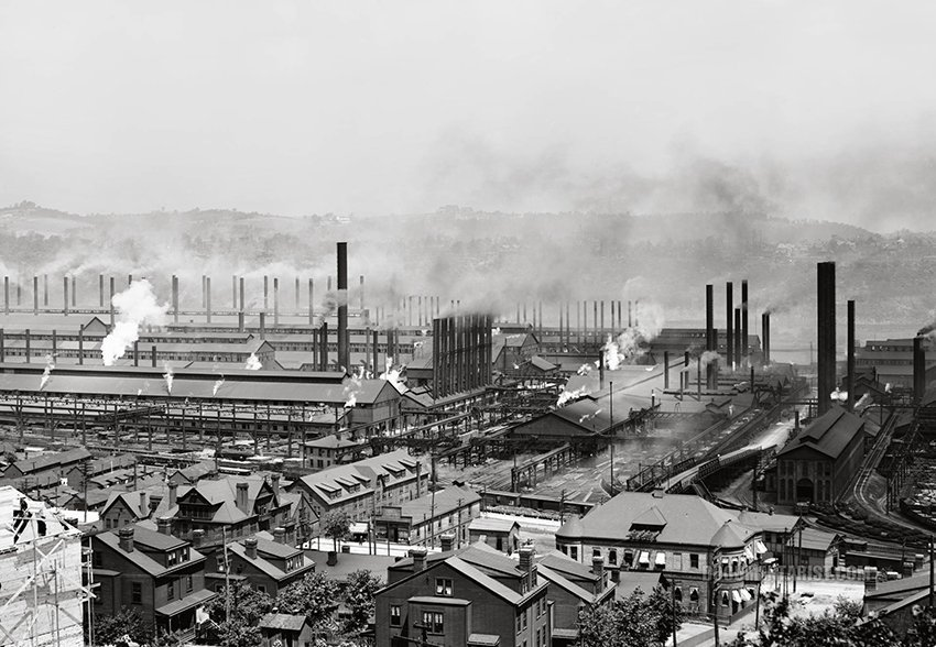 Carnegie Steel Plant, Homestead, Pennsylvania, 1905. Photo courtesy of the Library of Congress.