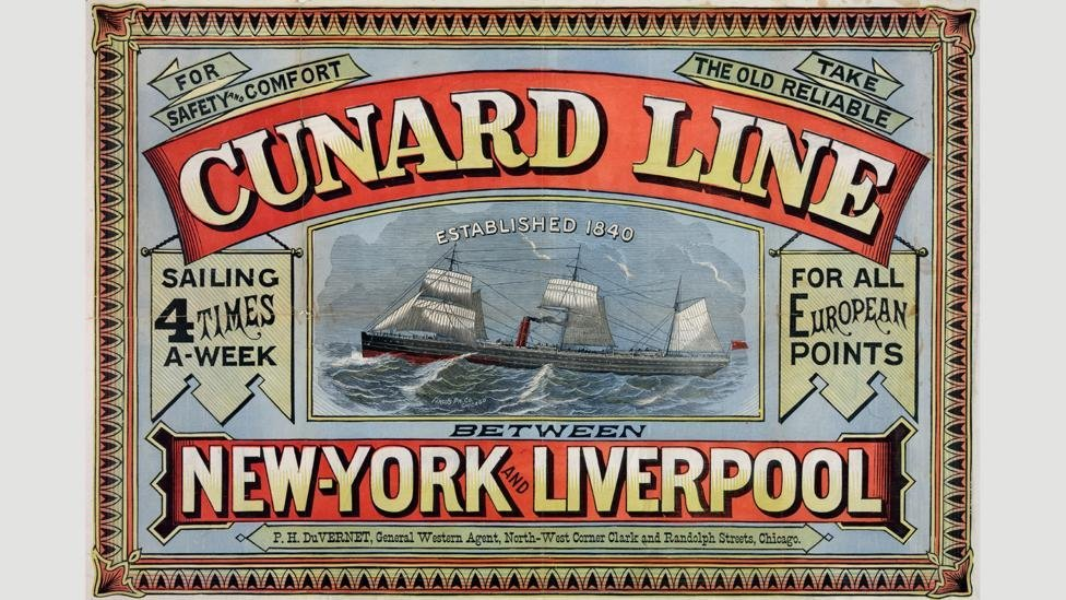 In 1888, Inman introduced ships which no longer required auxiliary sails, giving ocean liners a similar look to the one they have today. Credit: Alamy.