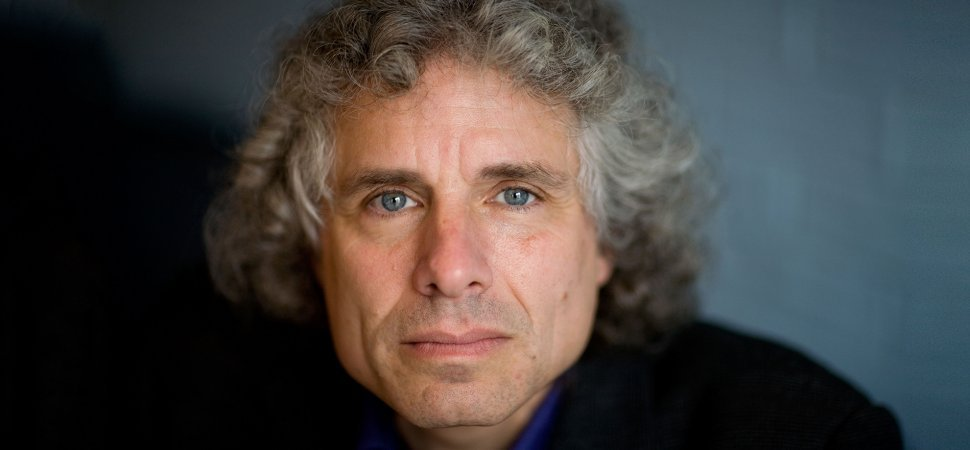 Author and psychologist Steven Pinker. Photo from Getty Images.
